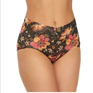 NWT Hanky Panky Autumn Bloom Retro V-Kini Panty
